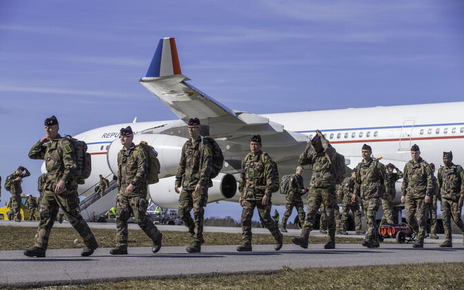 140 French troops arrived at Ämari Air Base on Tuesday. April 4, 2017.