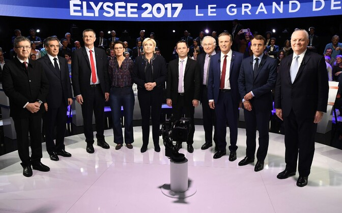 Prantsuse presidendiks pürgijad teise teledebati eel.