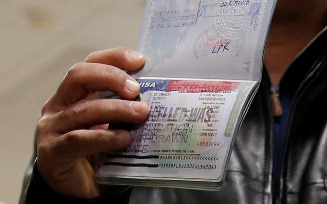 Tühistatud USA viisa Jeemeni kodaniku passis.