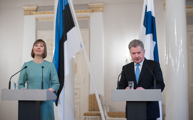 Archive photograph of President Kersti Kaljulaid and President of Finland Sauli Niinistö.