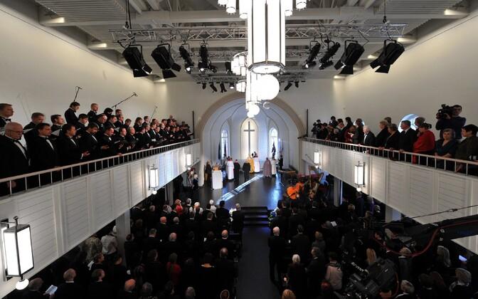 Consecration of the Estonian St. John's Church in Saint Petersburg. Feb. 20, 2011.