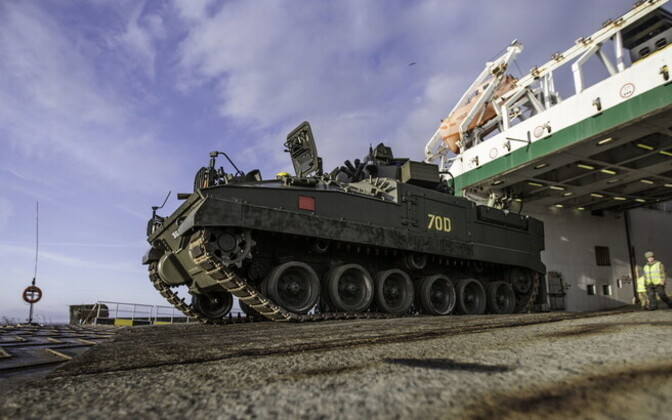 The last of the personnel and equipment of the NATO battle group arrived in Estonia on Wednesday. April 5, 2017.