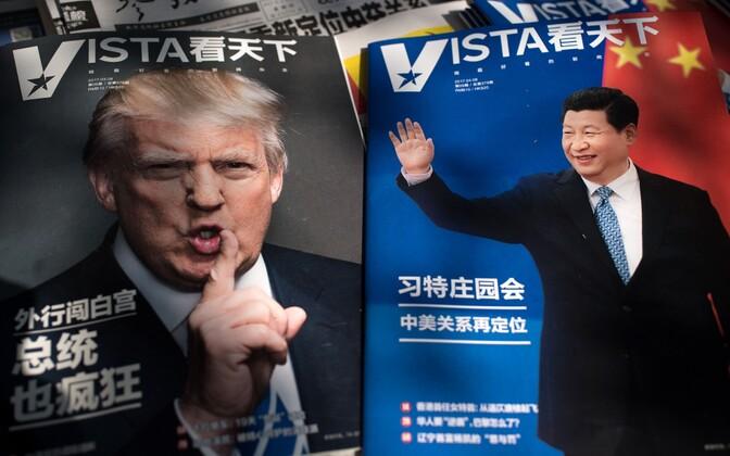 Ajakirjade esiküljed Pekingis 6. aprillil.