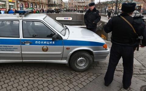 Полиция в Санкт-Петербурге.