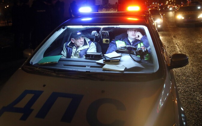 Politseiauto Venemaal.