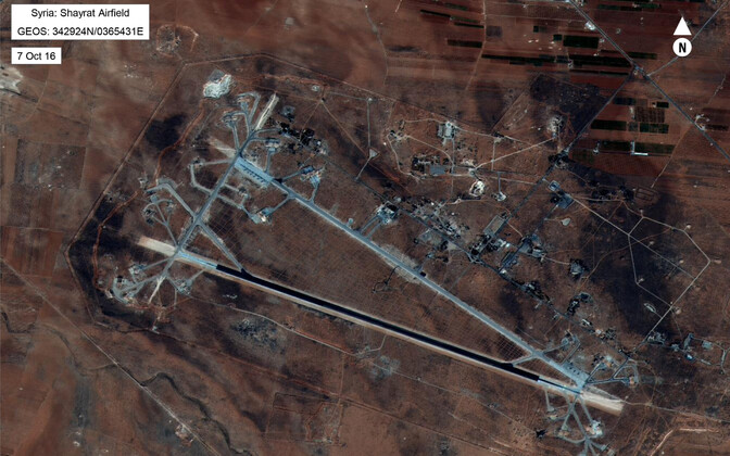 Syria's Al Shayrat air base, the target of the strike, was completely destroyed.