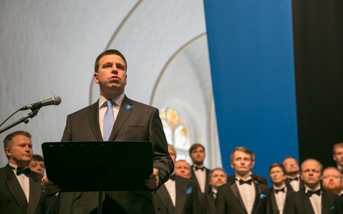 Prime Minister Jüri Ratas, speaking in St. Petersburg on Apr. 8, 2017.