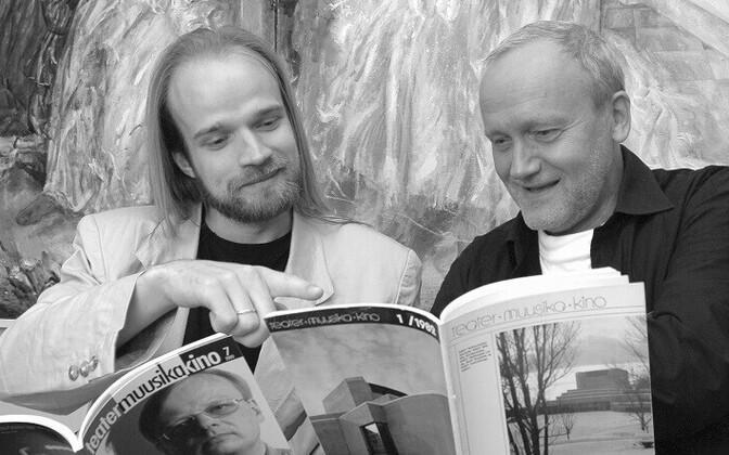 TMK praegune peatoimetaja Madis Kolk ja esimene peatoimetaja Jaak Allik.