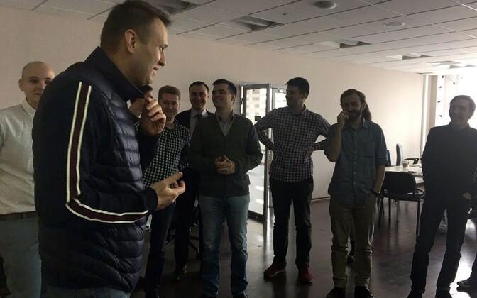 Aleksei Navalnõi taas vabaduses, 10. aprill.