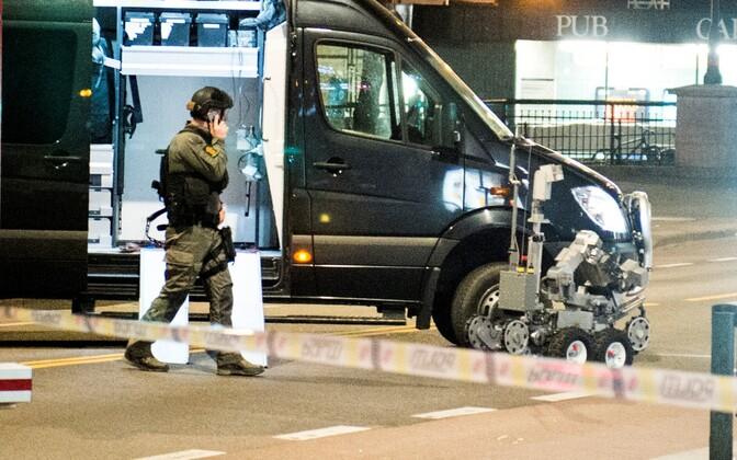 Pommirobot Oslo kesklinnas.
