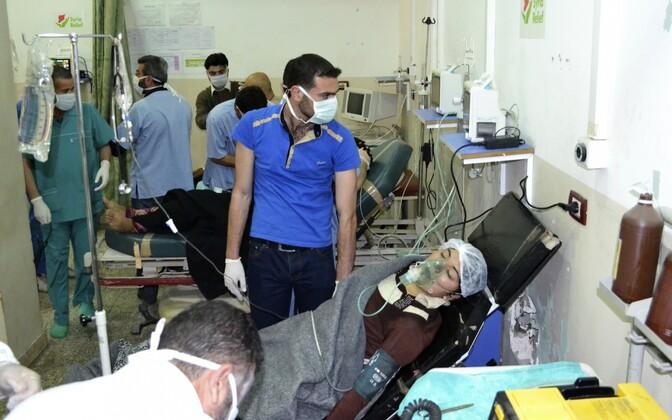 2014. aastal väidetavas keemiarünnakus kannatada saanud naine haiglas.
