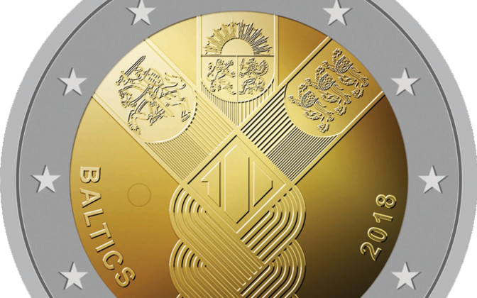The winning design of the commemorative Baltic €2 coin.
