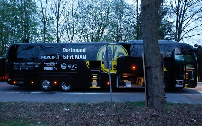 Автобус, перевозивший футболистов
