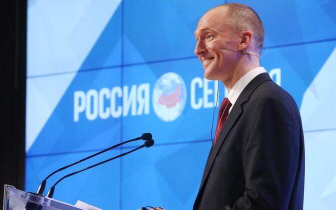 Carter Page 2016. aasta detsembris Moskvas kõnega esinemas.