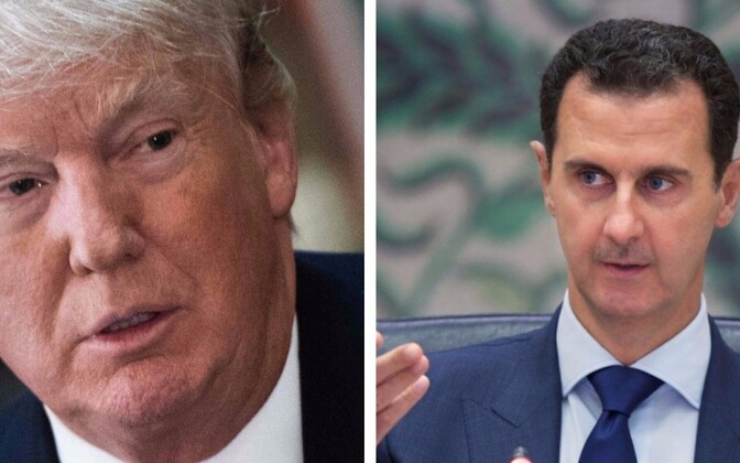 Trump ja Assad.