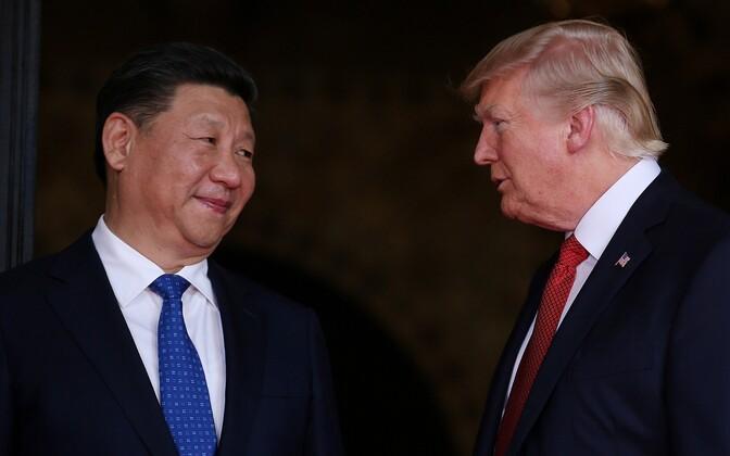 Hiina president Xi Jinping ja USA president Donald Trump.