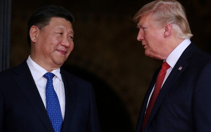 Presidendid Xi Jinping ja Donald Trump.