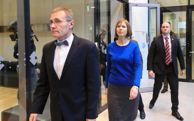 ERM director Tõnis Lukas and President Kersti Kaljulaid visiting ERM.