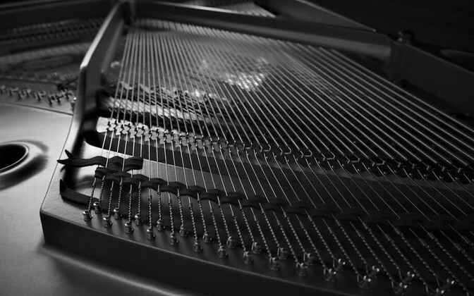 Inside of a piano. Photo is illustrative.