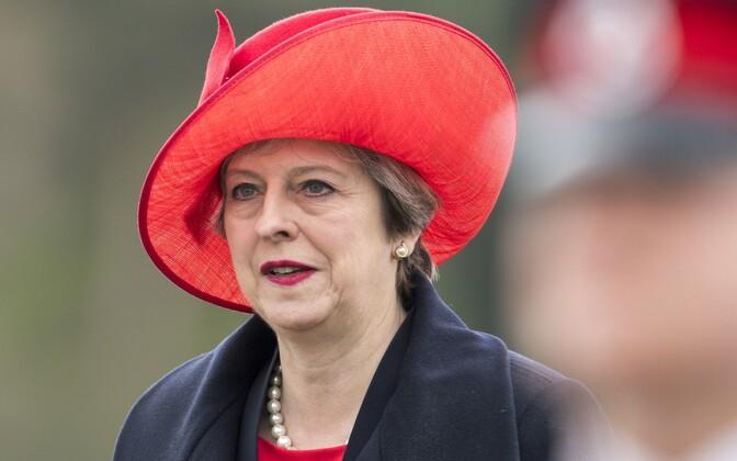 Briti peaminister  13. aprillil Sandhursti sõjaväeakadeemias paraadil.