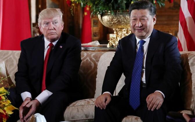 Trump ja Xi 6. aprillil Floridas.