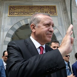 Türgi peaminister Recep Tayyip Erdogan referendumi järgsel päeval.