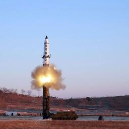 Испытания северокорейской ракеты в феврале.