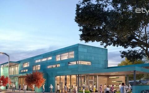 Проект здания нового автовокзала в Пярну.
