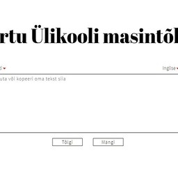 Tartu Ülikooli teadlaste loodud tõlkeprogramm.