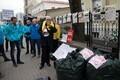 Arvo Sarapuu vastane meeleavaldus linnavolikogu ees.