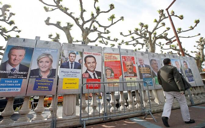 Valimisplakatid Prantsusmaal.