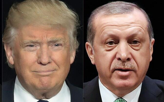 Donald Trump ja Recep Tayyip Erdogan.