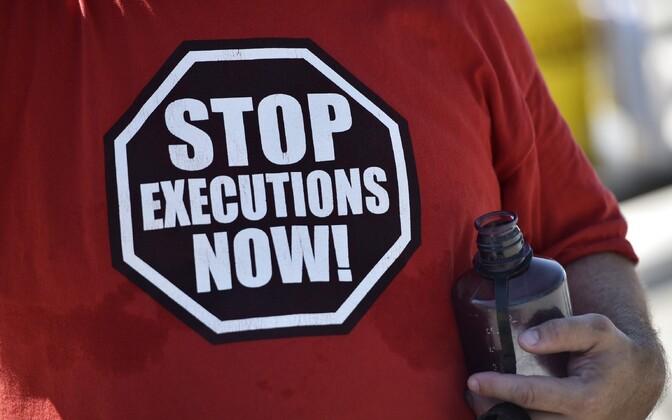 Hukkamiste vastane meeleavaldusel.