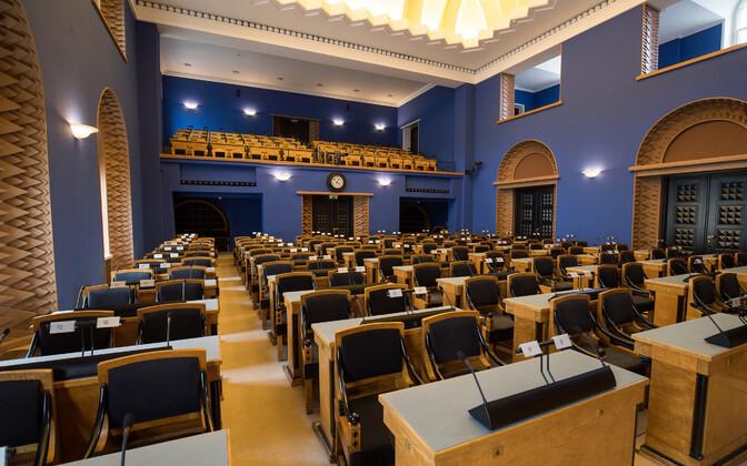 Riigikogu istungitesaal.