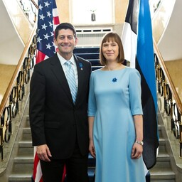 President Kersti Kaljulaid and Speaker of the U.S. House of Representatives Paul Ryan (left) in Tallinn, Apr. 22, 2017.
