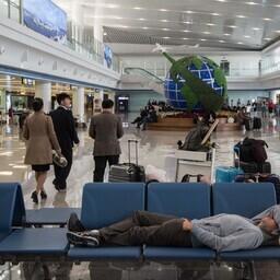 Pyongyangi rahvusvahelise lennujaama ootesaal.