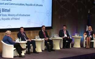 Rail Balticu tasuvusuuringu tulemuste avalikustamine Riias.