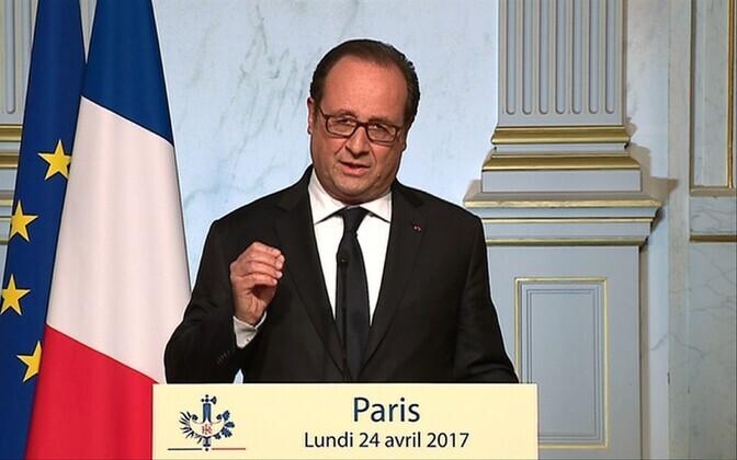 Prantsusmaa president François Hollande 24. aprillil avaldust tegemas.