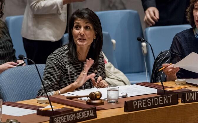 Постоянный представитель США при ООН Никки Хейли.