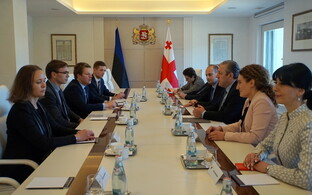 Prime Minister Sven Mikser met with Georgian Prime Minister Giorgi Kvirikashvili and other Georgial leaders on Monday. April 24, 2017.