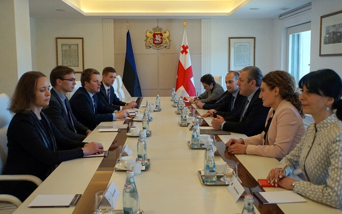 Minister of Foreign Affairs Sven Mikser met with Georgian Prime Minister Giorgi Kvirikashvili and other Georgial leaders on Monday. April 24, 2017.
