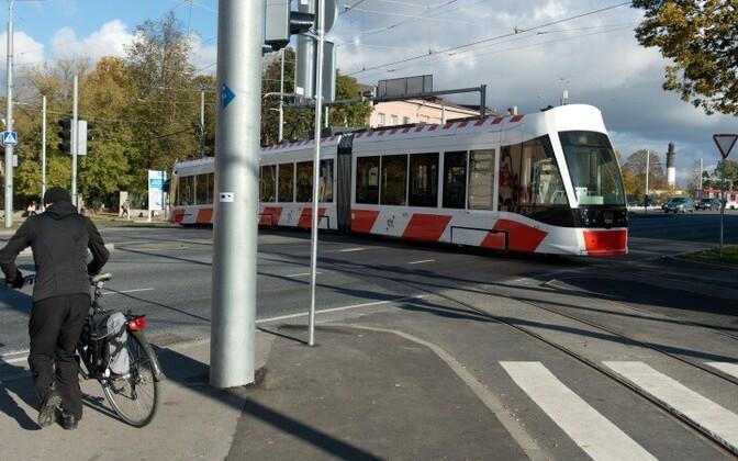 Трамвай в Таллинне.