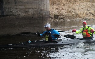 Vasaloppeti ja Tartu Maratoni võitja, norralasest pikamaasuusataja Jørgen Aukland ja tema paarimees Truls Aabol.