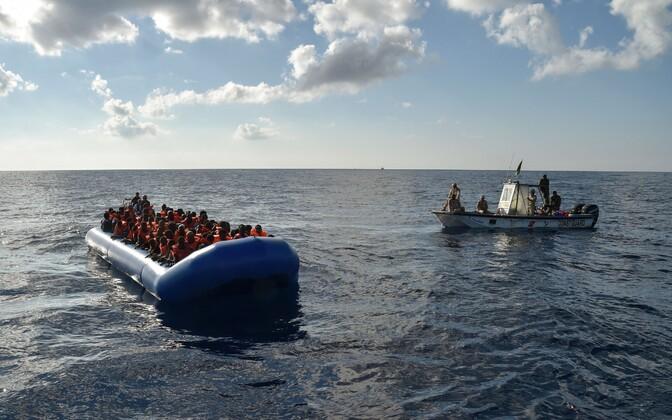 Põgenikud ja migrandid Vahemerel.