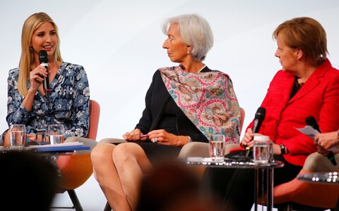 Ivanka Trump, Christine Lagarde, Angela Merkel.