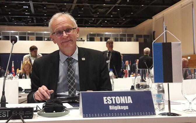 President of the Riigikogu Eiki Nestor. April 25, 2017.