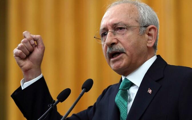 Türgi peamise opositsioonierakonna CHP juht Kemal Kilicdaroglu.