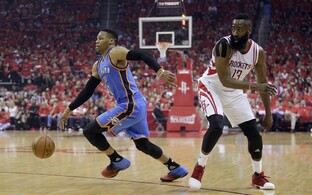 Russell Westbrook ja James Harden