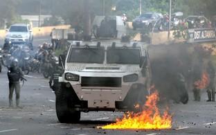 Märulipolitsei pealinn Caracases.