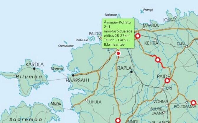 921c28987f2 Tallinna-Pärnu maanteel Ääsmäe piirkonnas algas möödasõiduradade ehitamine  (0)